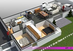 Appartement 0.5 - Mont-sur-Marchienne -