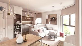 Mieszkanie 2-pokojowe 46m2- Gdańsk - Śródmieście - wariant 2