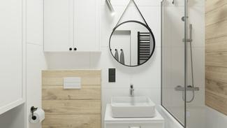 Łazienka w mieszkaniu - Gdańsk Brzeźno
