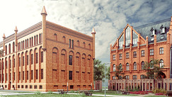 Rewitalizowane zabytkowe budynki w Gdańsku