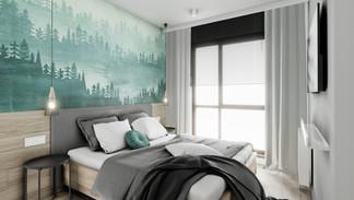 Sypialnia w mieszkaniu - Gdańsk Brzeźno
