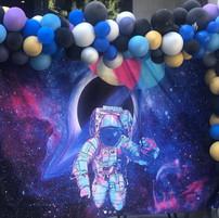 Space Jam Balloon Backdrop