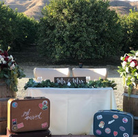 Traveling Couple Tablescape