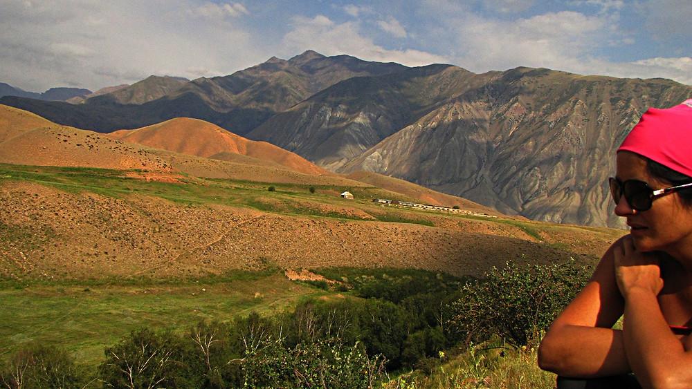 Mountains in central Kyrgyzstan.