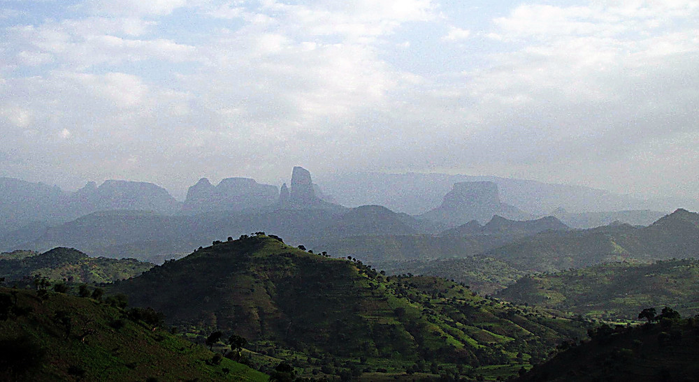 Stunning country between the Simien National Park and Aksum, Ethiopia