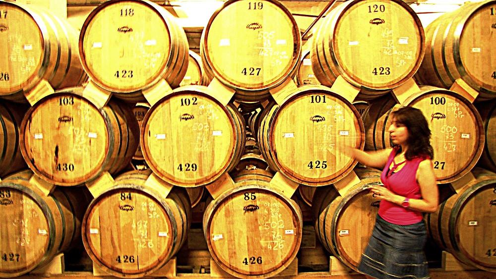 Brandy barrels, Ararat Distillery tour, Yerevan, Armenia