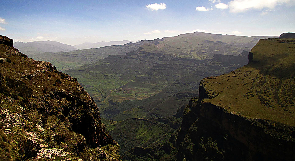 View in the Simien Mountains, Central Ethioipia
