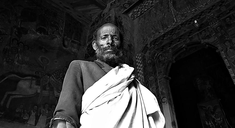 Religious man, Tigray, Ethiopia