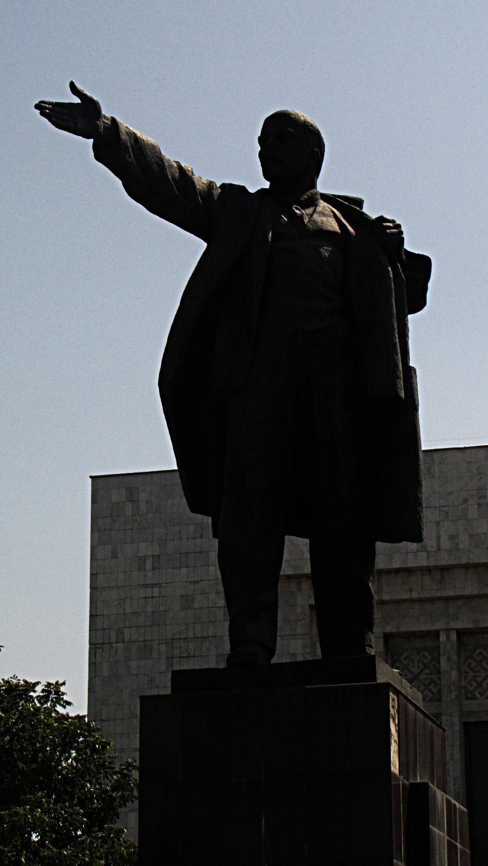 Lenin Statue, central Bishkek, Kyrgyzstan