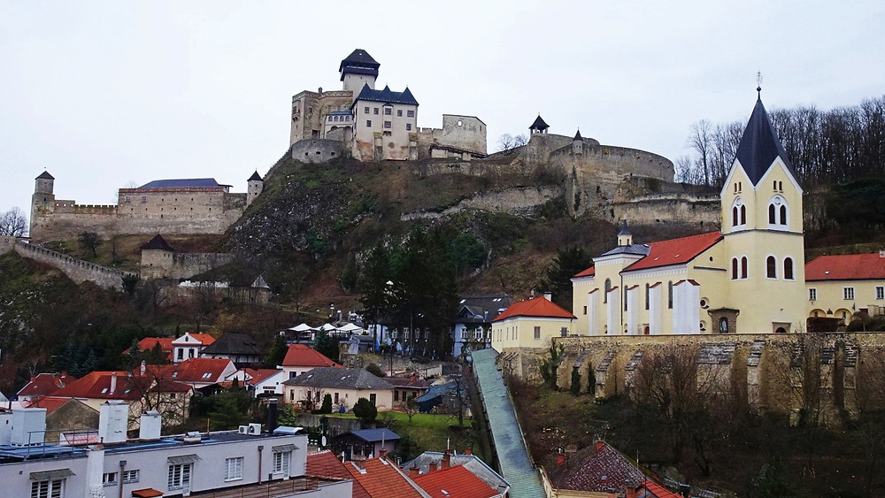 Trencin Castle and fortress and Parish Church