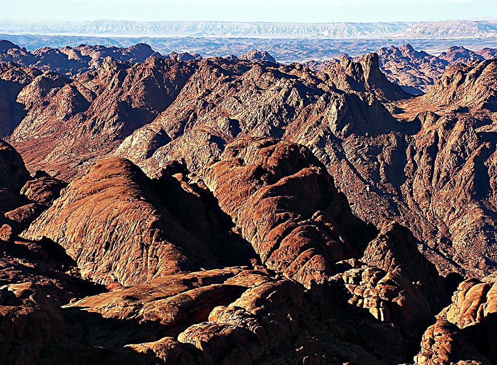View from Mount Sinai, Egypt
