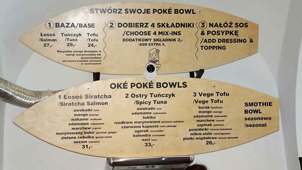 Oke Poke Hawaiian restaurant, Krakow