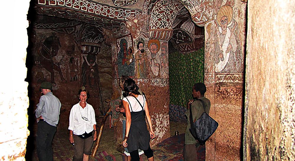 Frescoes inside Abuna Yemata Guh, Tigray, Ethiopia