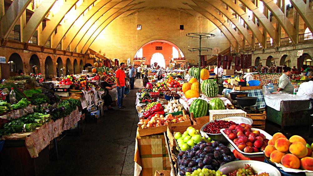 Central Bazaar, Yerevan, Armenia