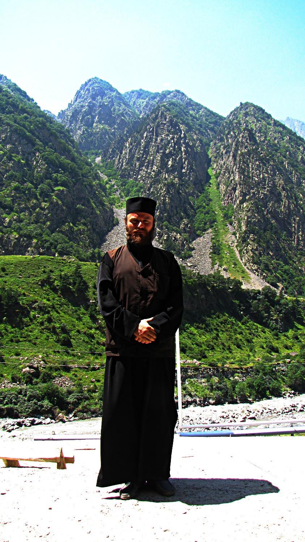 Georgian priest, Caucasus Mountains, Georgia