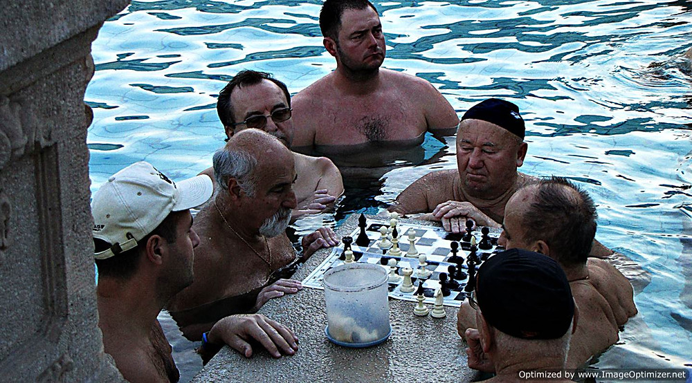 Szechenyi baths - chess players