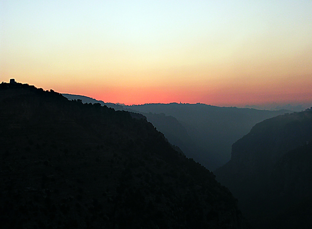 Bcharre - stunning rift valley in Lebanon