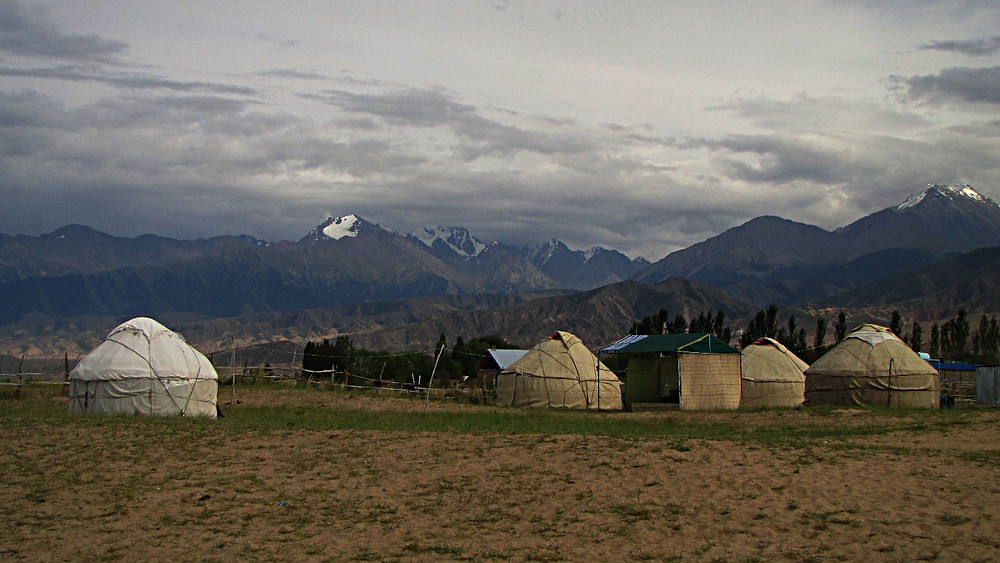 Yurt camp, Tosor - south shore of Lake Issykkul, Kyrgyzstan