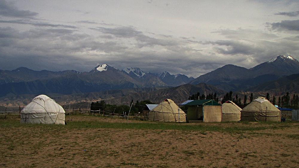 Yurt camp, Tosor - south shore of Lake Issykkul, Kyrgyzstan