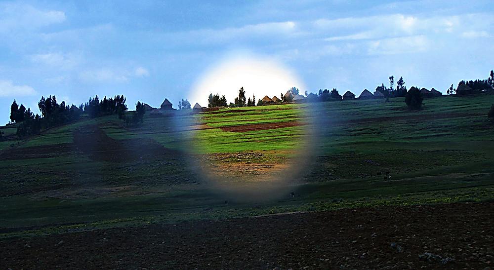 Ethiopian countryside view