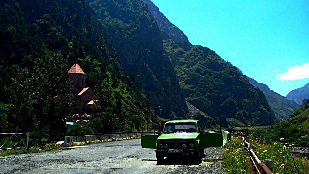 On the road to Vladikavzaz, Caucasus Mountains, Georgia