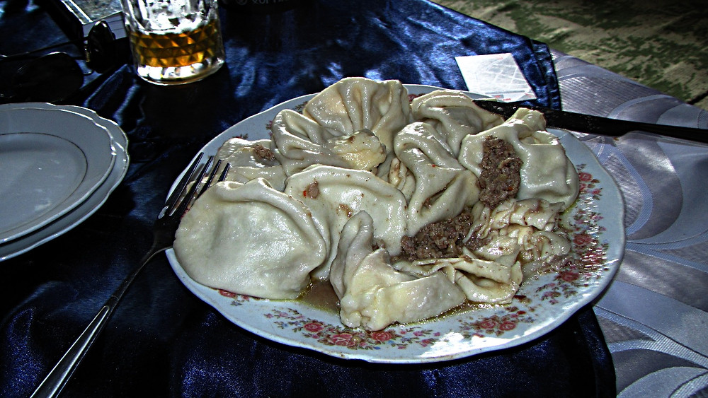 Khinkali, typical Georgian food