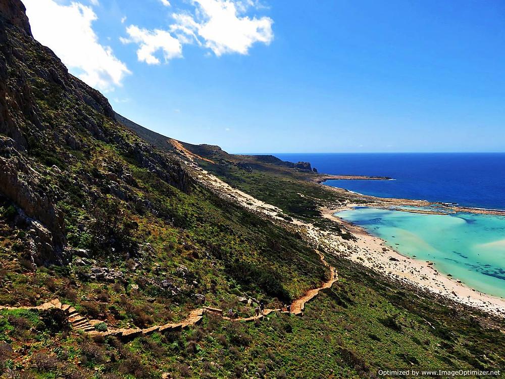 Path to Balos beach, north west Crete