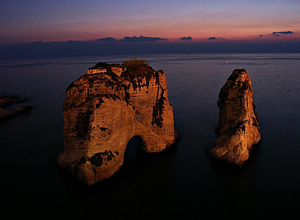 Pigeon Rocks, Raouche, Beirut, Lebanon