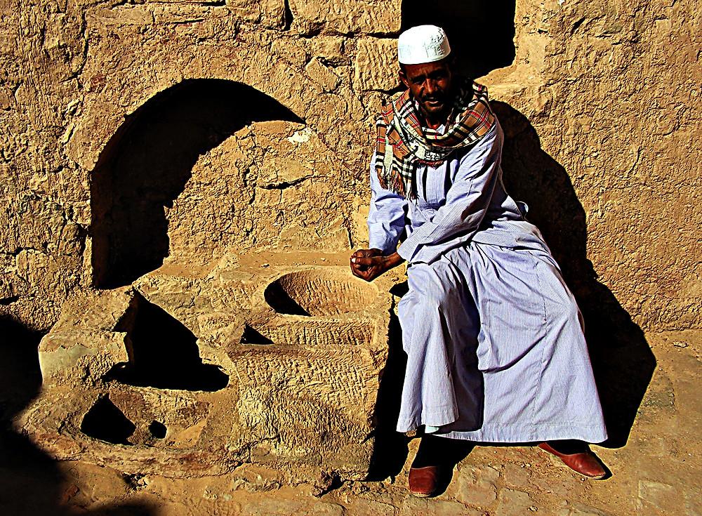 Nubian man, Aswan, Egypt