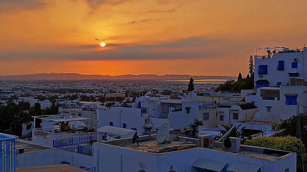 Sidi Bou Said sunset, Tunisia
