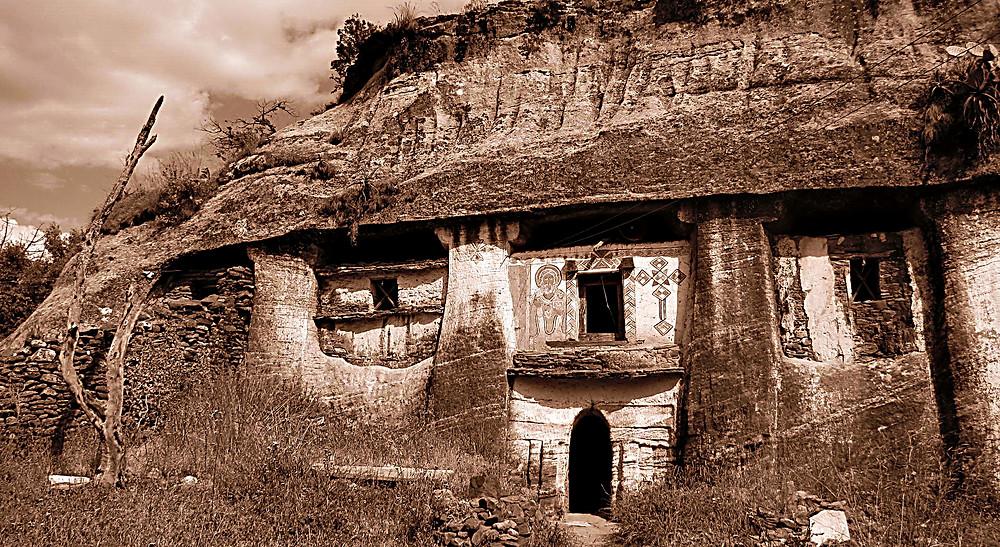 Medhane Alem - carved into the hillside, Ethiopia
