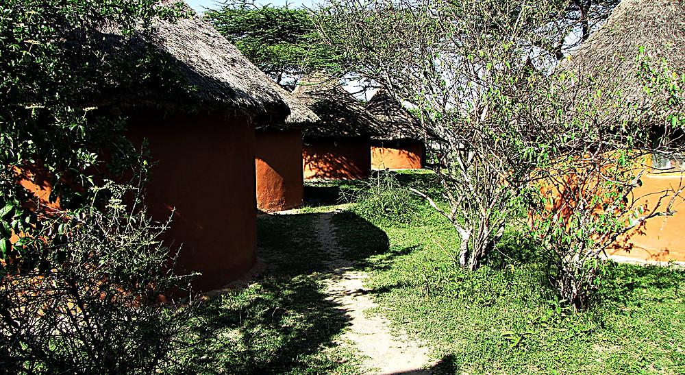 Mud huts at the Bishingari Lodge, Lake Langano, Ethiopia