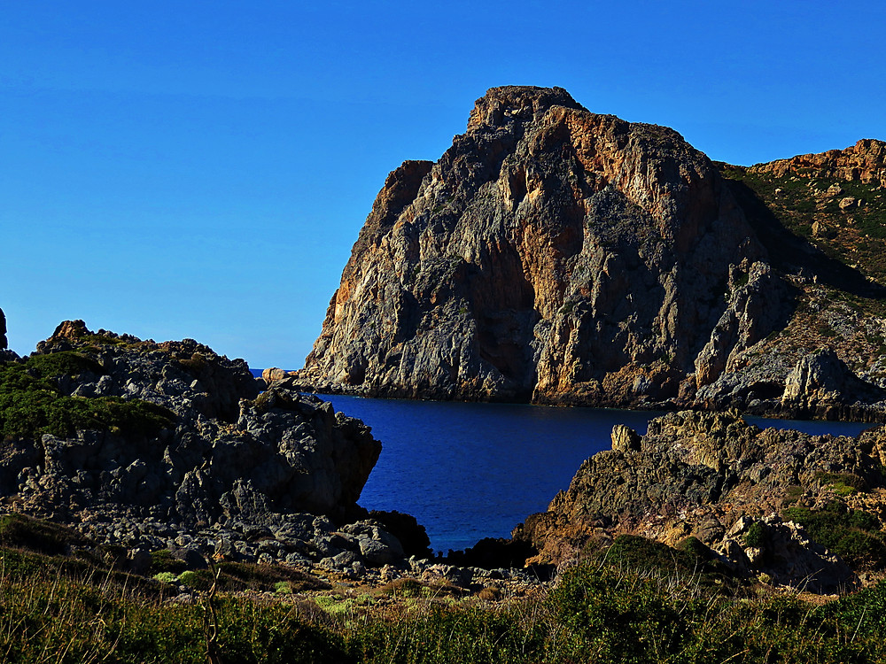 Rugged scenery at Gramvousa Cape, near Falasarna