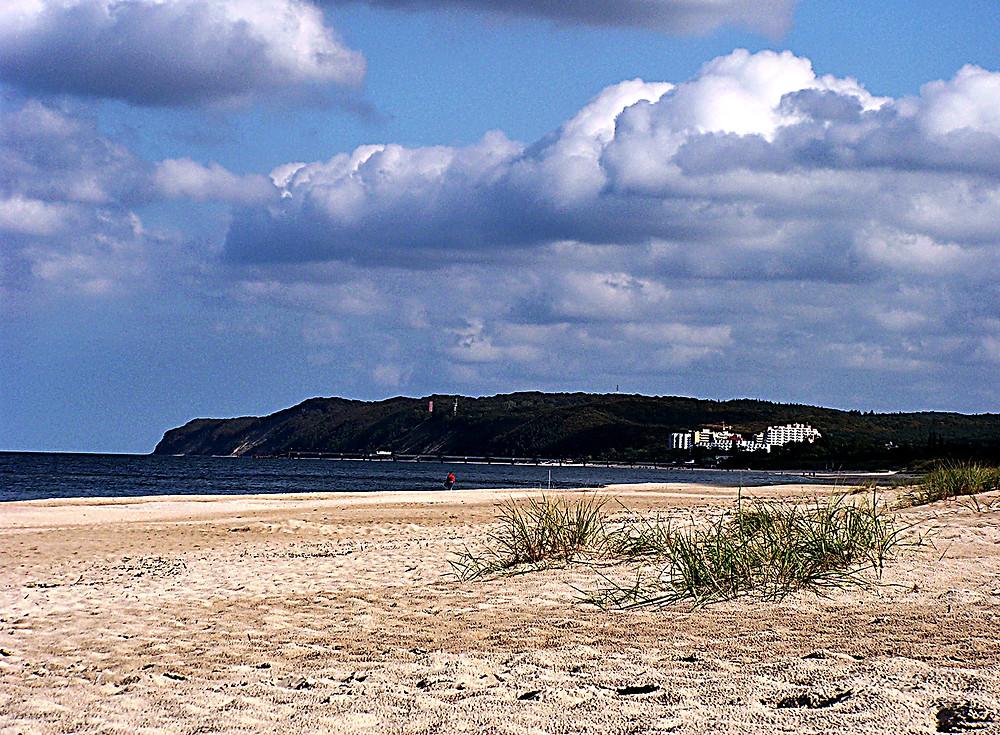 Beach near to Międzyzdroje, Baltic coast, northern Poland
