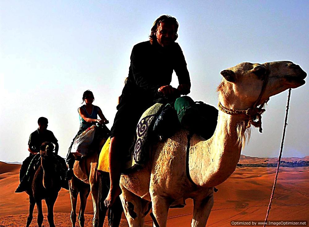 Camel ride, Merzouga, Sahara Desert, Morocco