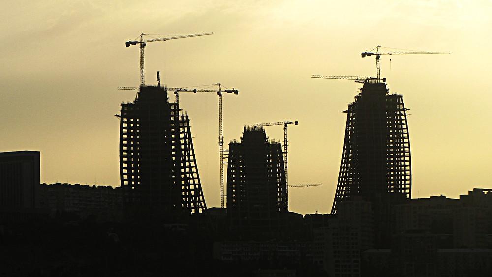 Construction work, Baku, Azerbaijan