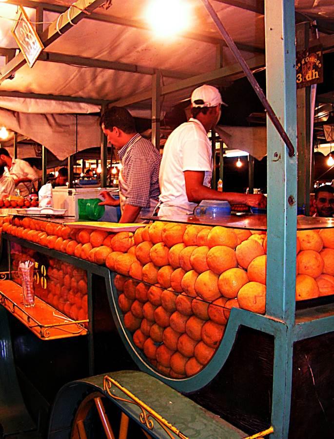 Juiced - orange juice sellers, central Marrakesh
