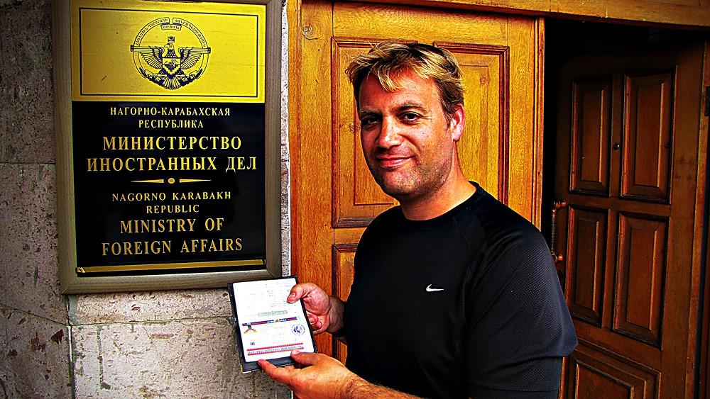 Nagorno-Karabakh Ministry of Foreign Affairs and visa, Armenia