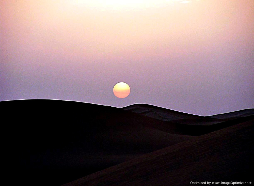 Sunrise over the Sahara, Morocco