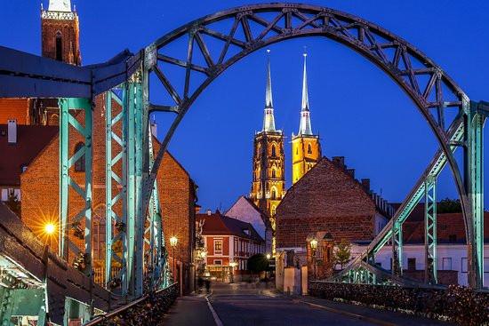 Tumski Bridge, Wroclaw