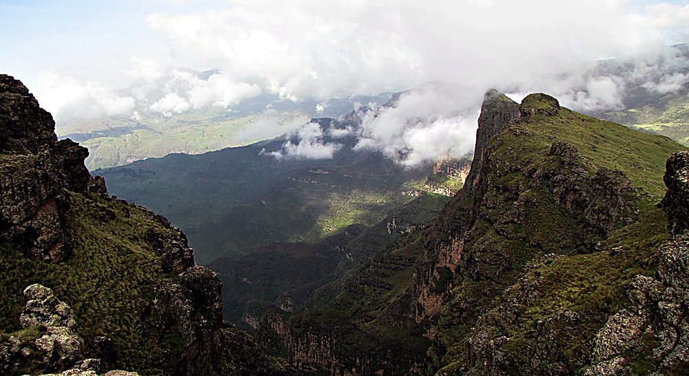 Simien Mountains between Sankober and Geech, central Ethiopia