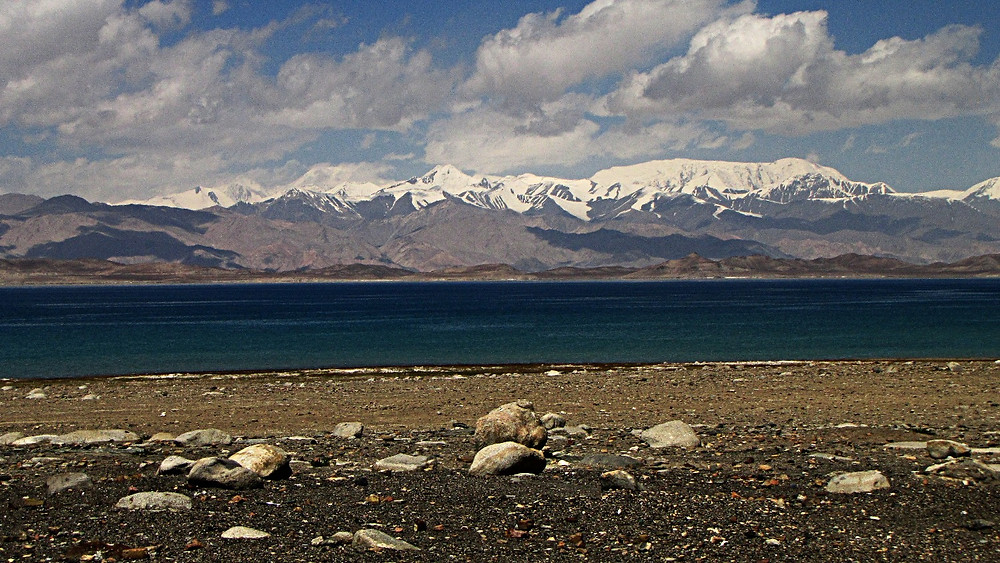 Lake Karakul, devoid of life, Pamir Highway, Tajikistan
