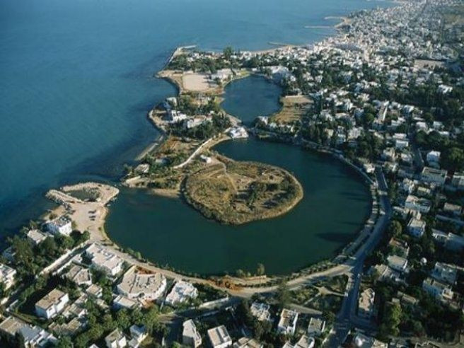 Punic naval and commercial harbours, Carthage, Tunisia