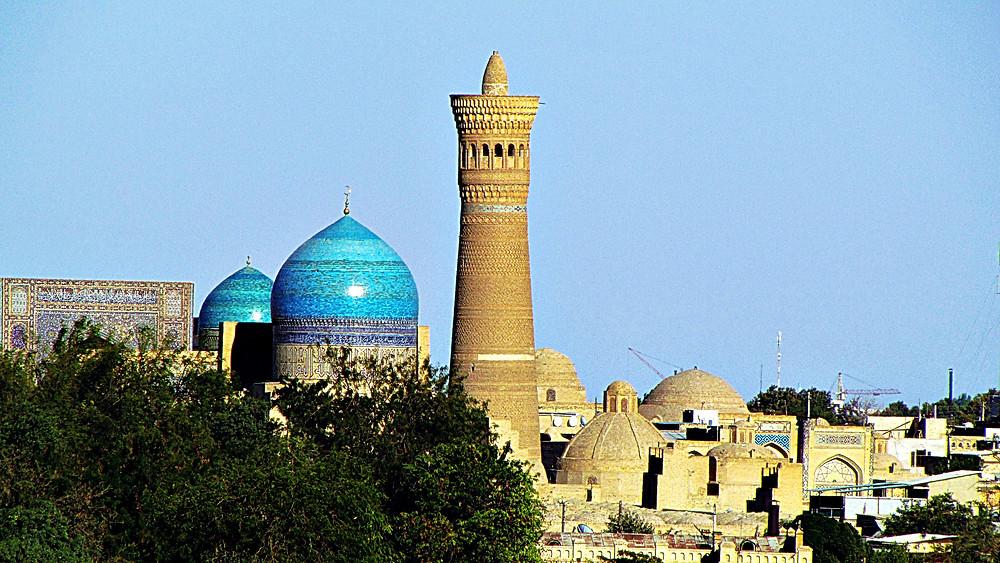 Mir-i-Arab Madrassah and Kalan Minor Minaret, Bukhara, Uzbekistan