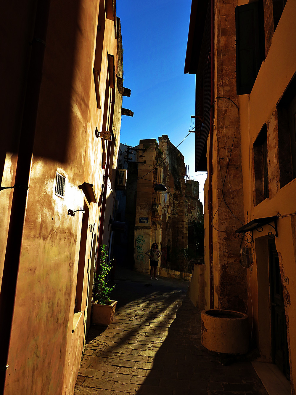 Back streets of Chania, north west Crete