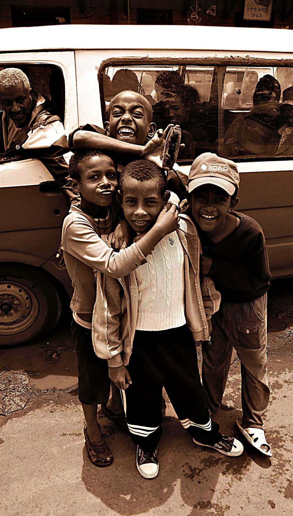 Street kids, Addis Ababa, Ethiopia