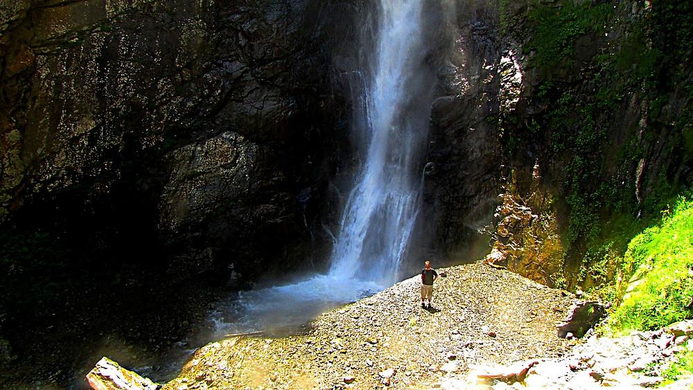 Gveleti Waterfall, north of Kazbegi, Georgia
