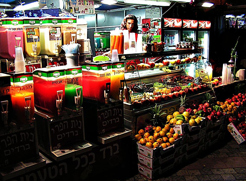 Juice stall, Eilat, Israel