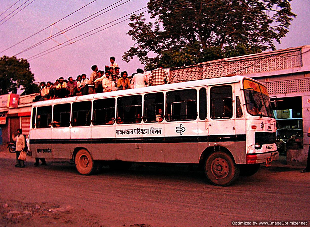 Bus travel in northern India