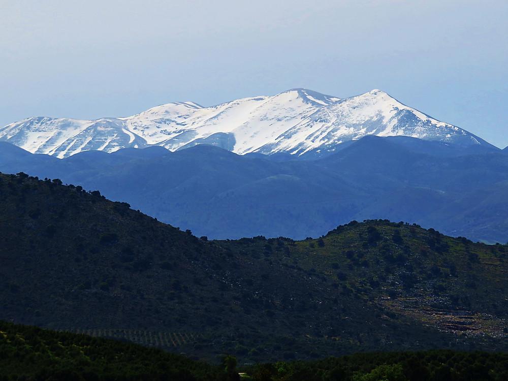 Psilitoris' snowy peaks from Anogia, Crete